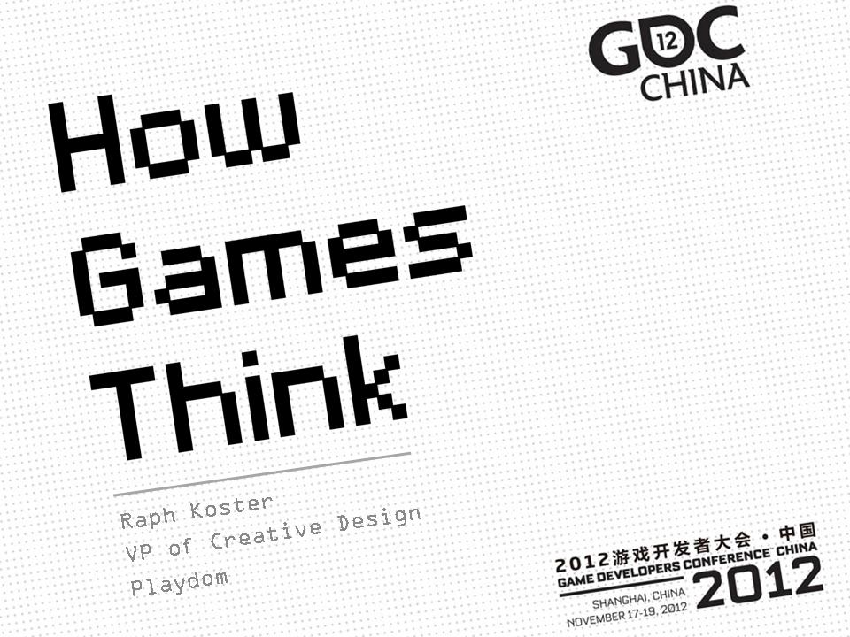 How Games Think title slide