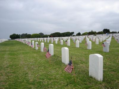 Flags in place on Memorial Day